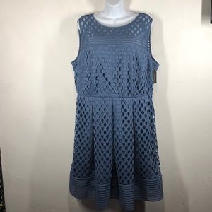 NWT Lane Bryant blue dress size 18
